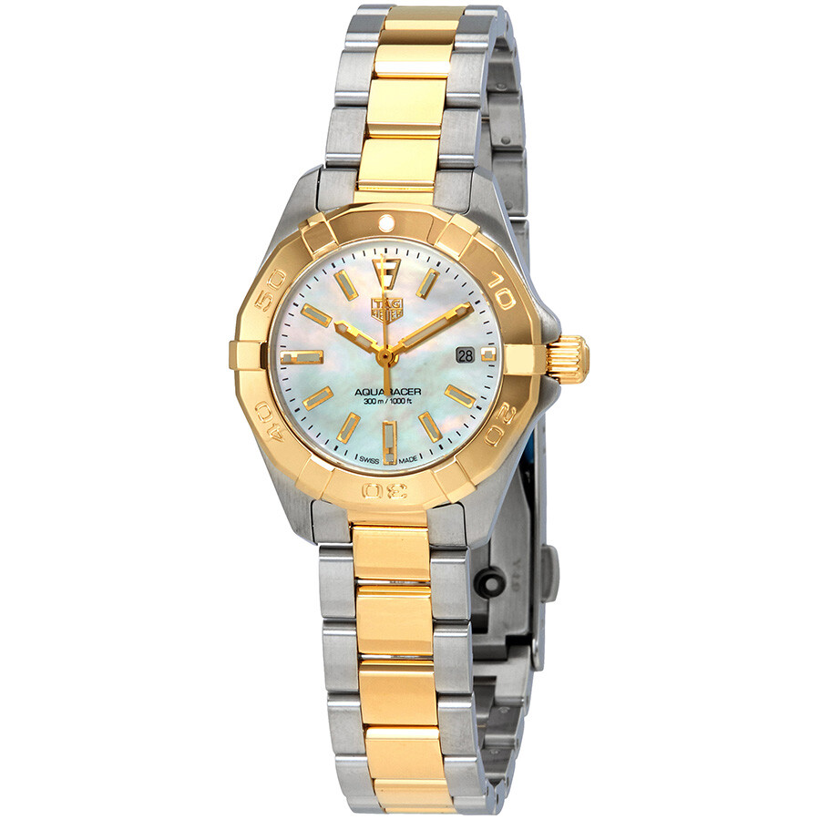 Tag Heuer Aquaracer White Mother of Pearl Dial Ladies Watch WBD1420.BB0321