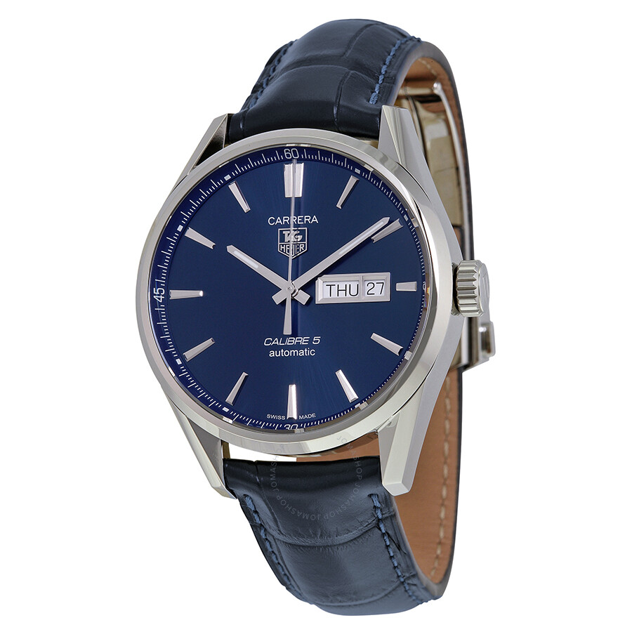Tag heuer carrera automatic blue dial men 39 s watch war201e fc6292 carrera tag heuer watches for Tag heuer automatic