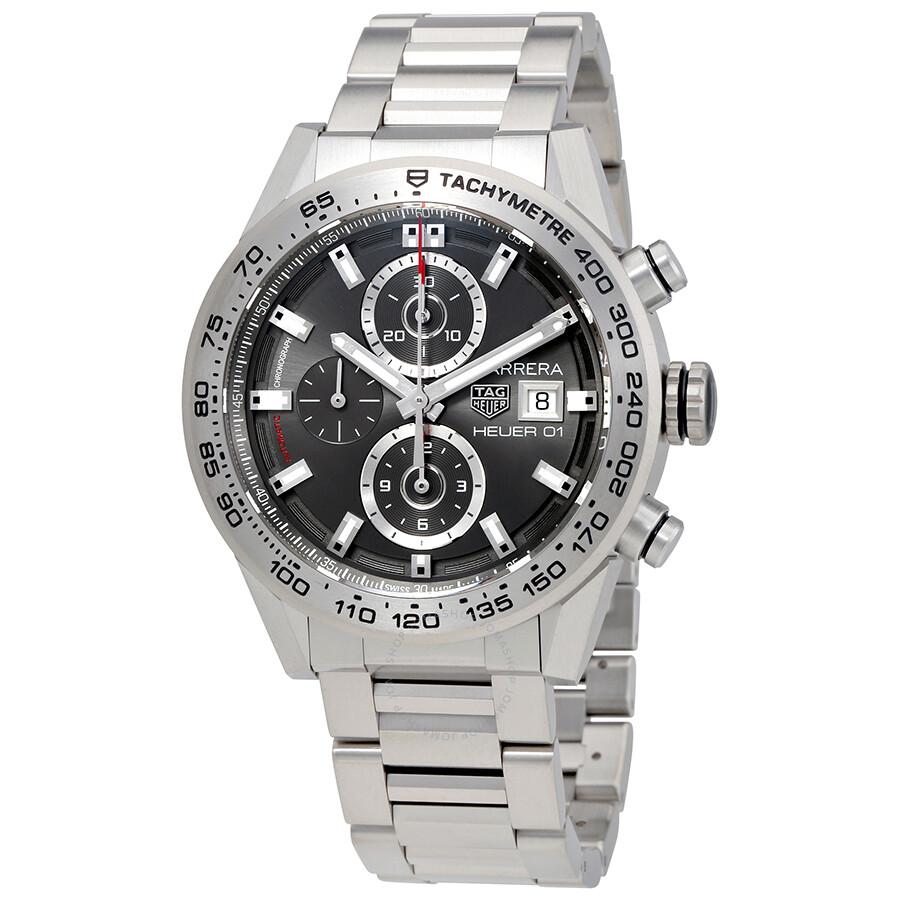 Tag Heuer Carrera Automatic Mens Chronograph Titanium Watch CAR208Z.BF0719