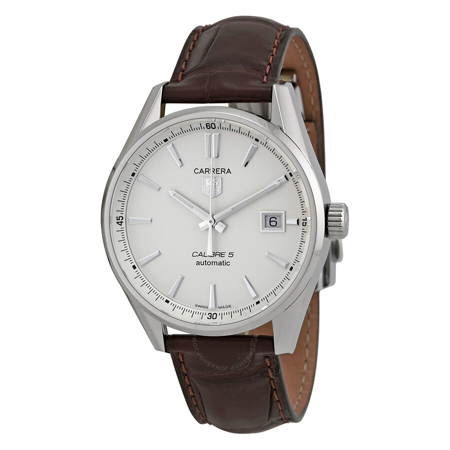 Tag heuer carrera automatic silver dial men 39 s watch war211b fc6181 carrera tag heuer for Tag heuer automatic
