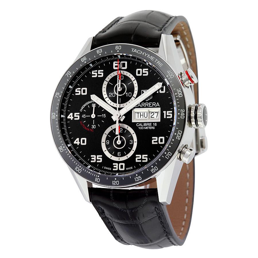 Tag Heuer Carrera Black Dial Automatic Chronograph Mens Watch CV2A1R. FC6235