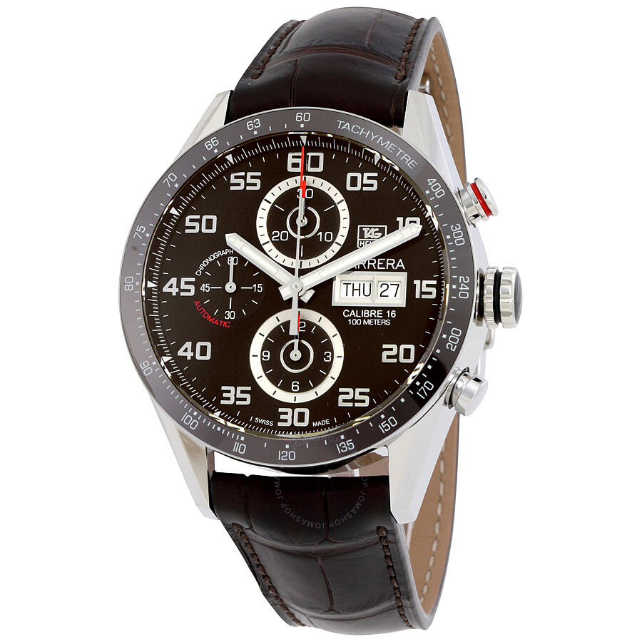 front replica store carrera silver watch carerra wht watches brown shop heuer tagcarr tag dial band