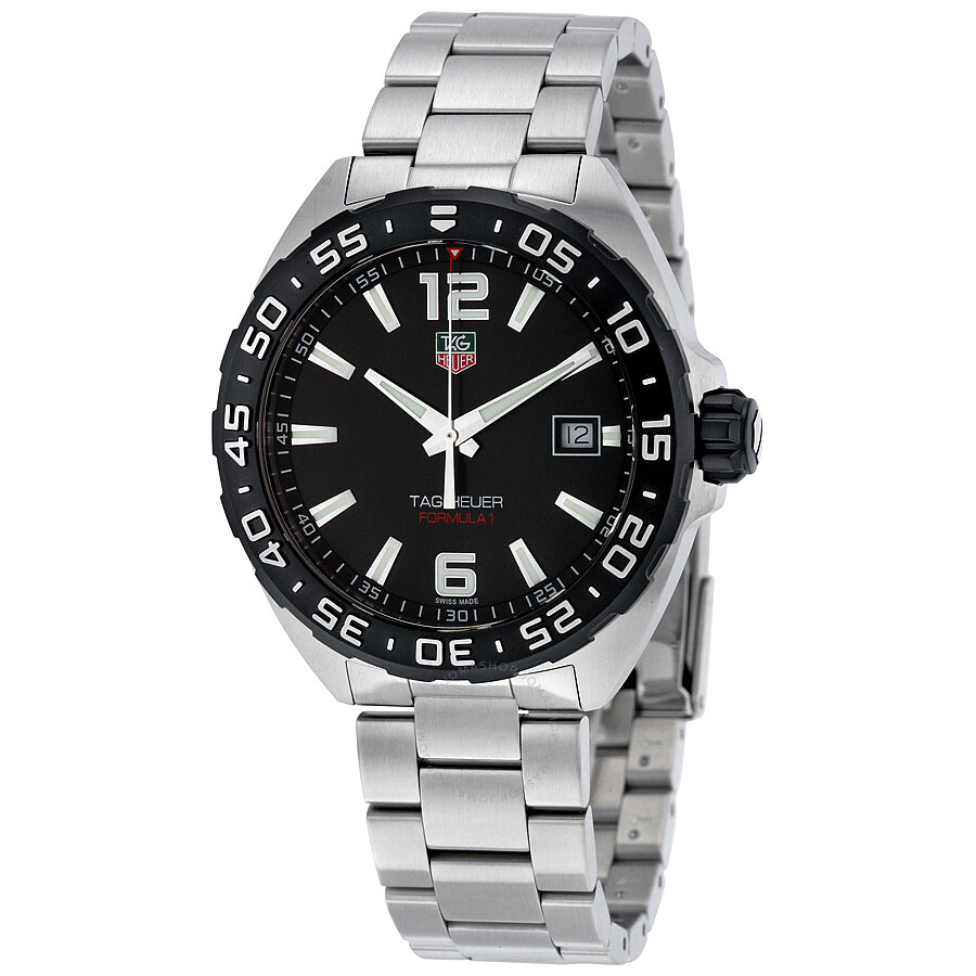tag heuer formula 1 black dial men 39 s watch waz1110 ba0875. Black Bedroom Furniture Sets. Home Design Ideas