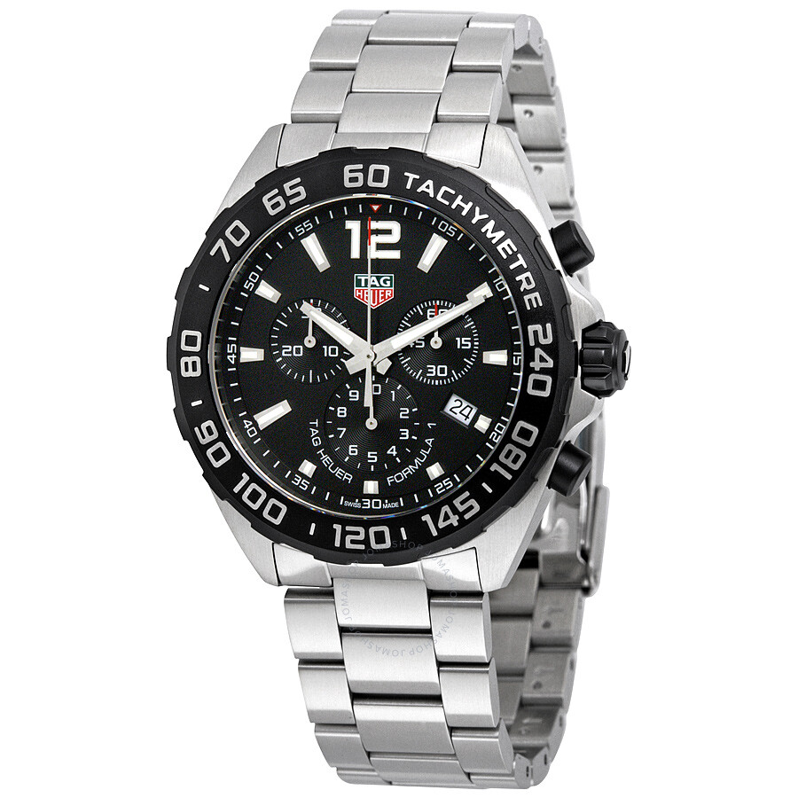 tag heuer formula 1 chronograph black dial men 39 s watch. Black Bedroom Furniture Sets. Home Design Ideas