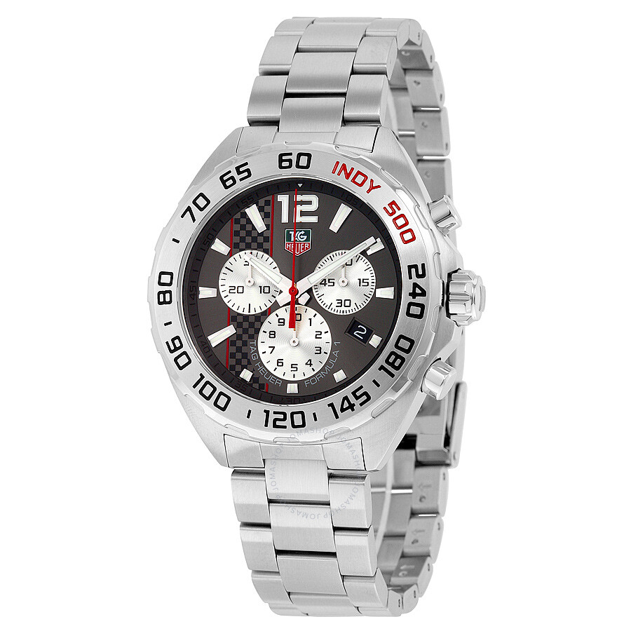 Tag Heuer Formula 1 Dial Chronograph Anthracite Stainless Steel Mens Watch CAZ1114. BA0877
