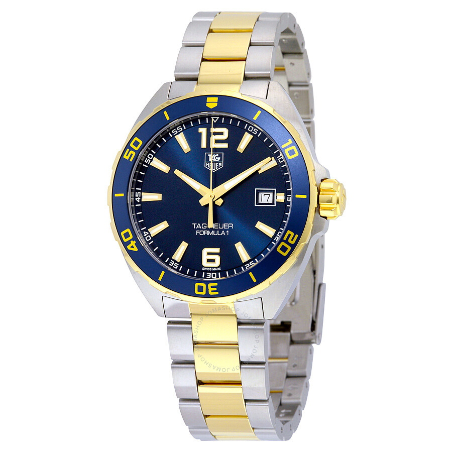 Tag Heuer Formula 1 Navy Blue Dial Two-tone Mens Watch WAZ1120. BB0879