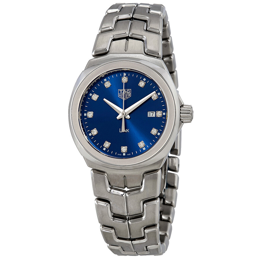 Tag heuer link blue diamond dial ladies watch wbc1318 ba0600 link tag heuer watches jomashop for Tag heuer d link