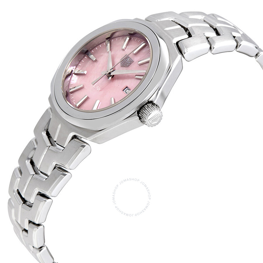 Tag heuer link pink mother of pearl dial ladies watch wbc1317 ba0600 link tag heuer for Tag heuer d link