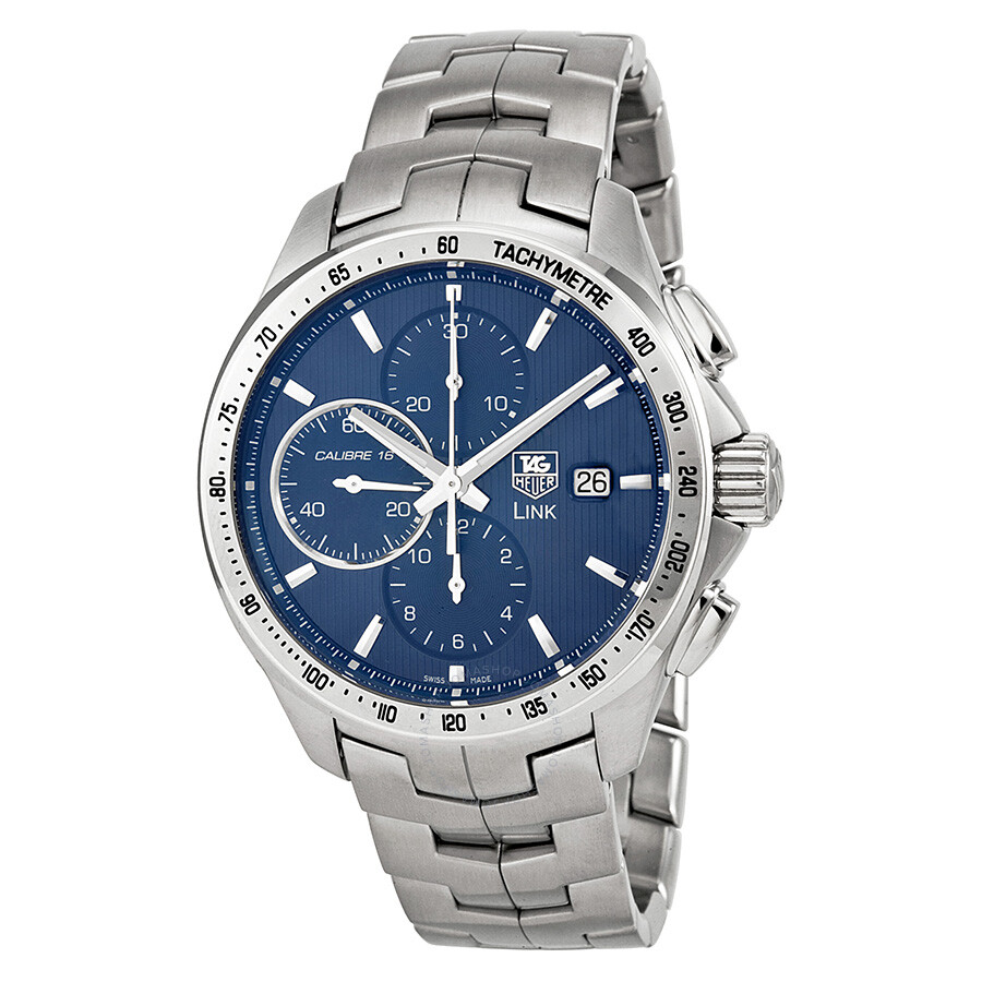 Tag heuer link leonard dicaprio blue dial chronograph steel men 39 s watch cat2015 ba0952 link for Tag heuer d link