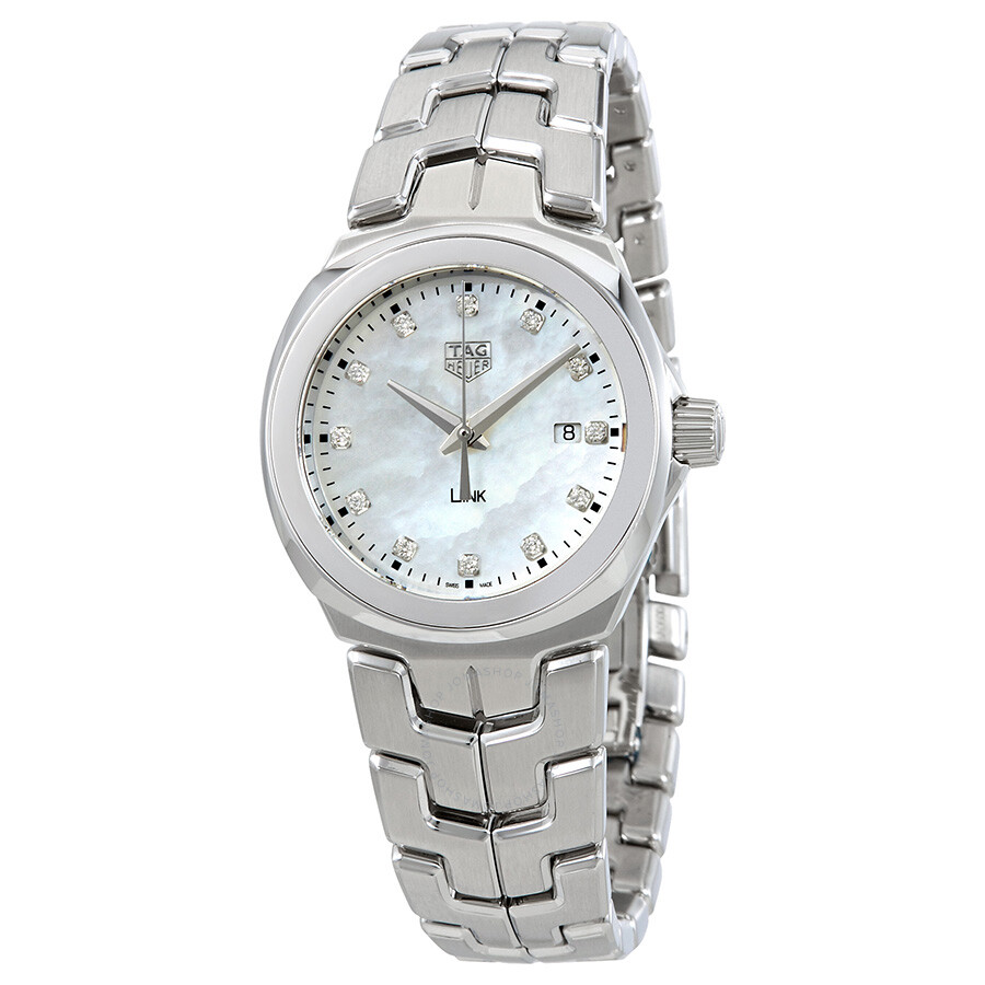 Tag heuer link mother of pearl diamond dial ladies watch wbc1312 ba0600 link tag heuer for Tag heuer d link