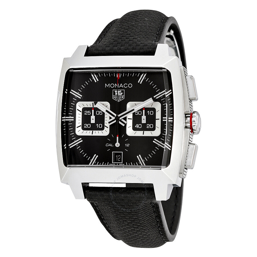 tag heuer monaco automatic chronograph black opalin dial. Black Bedroom Furniture Sets. Home Design Ideas