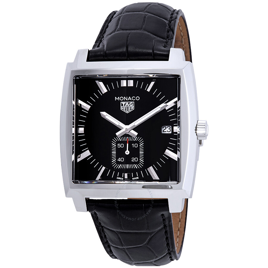 tag heuer monaco black dial men 39 s watch waw131a fc6177. Black Bedroom Furniture Sets. Home Design Ideas