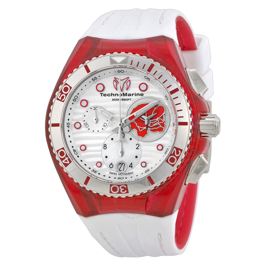 picture red technomarine buckle s for silver silicone of p authentic watches cruise