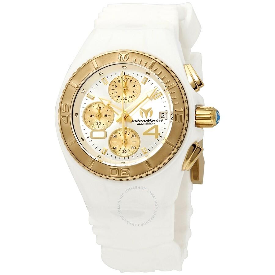 TechnoMarine JellyFish Chronograph Silver Dial Ladies Watch 115361