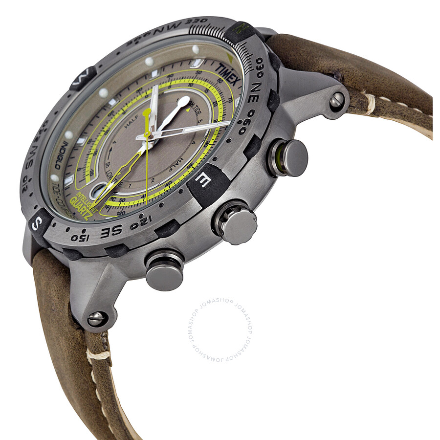 fa541439f994 Timex Intelligent Quartz T49861 IQ Tide Temp Compass watch With Tides -Temperate-Compass With black rubber strap and extra white strap A  technical ...
