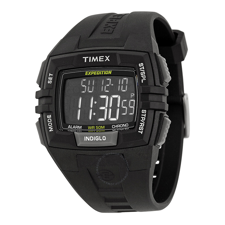Timex Expedition Shock Xl Vibrating Digital Dial Black ... |Timex Expedition Digital Watches Men
