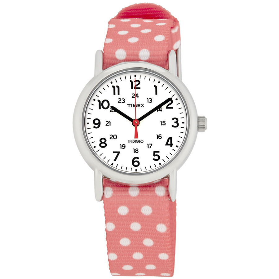 Timex Weekender White Dial Ladies Watch TW2P65600