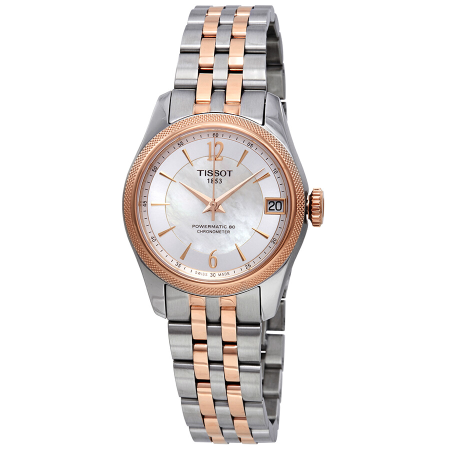 Tissot Ballade Automatic Chronometer White Mother of Pearl Dial Ladies Watch..