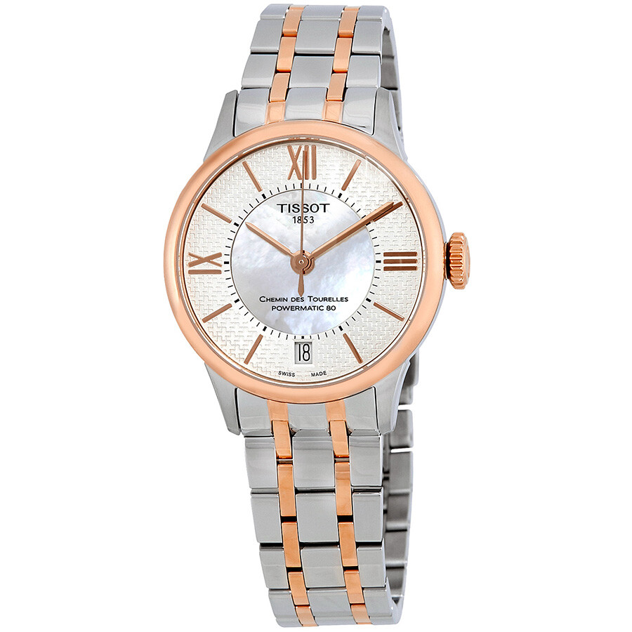 Tissot Chemin Des Tourelles Mother of Pearl Dial Ladies Watch T099.207.22.118.01
