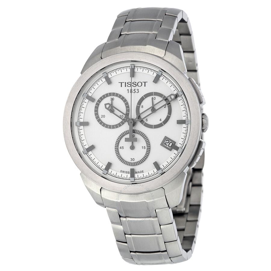 Tissot Chronograph Silver Dial Titanium Mens Watch T0694174403100