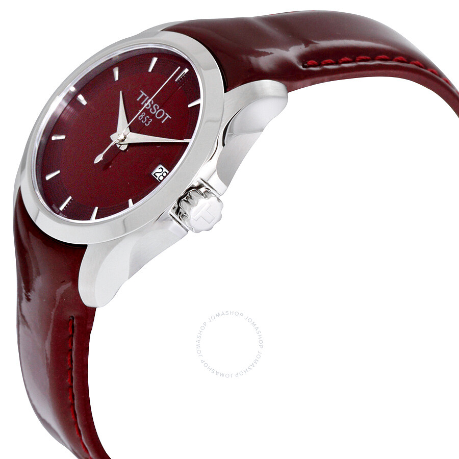 ellie red swarovski crystalline hours maroon from image watches watch