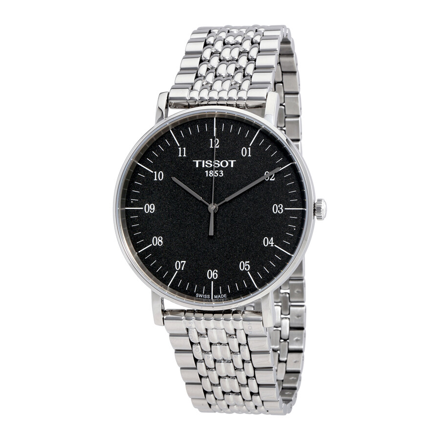 tissot male tissot everytime black dial mens watch t1096101107700