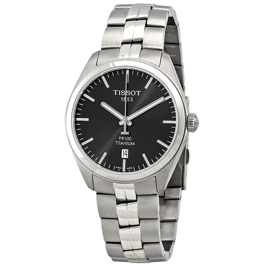 Tissot PR 100 Anthracite Dial Two-Tone Mens Watch T101.410.44.061.00