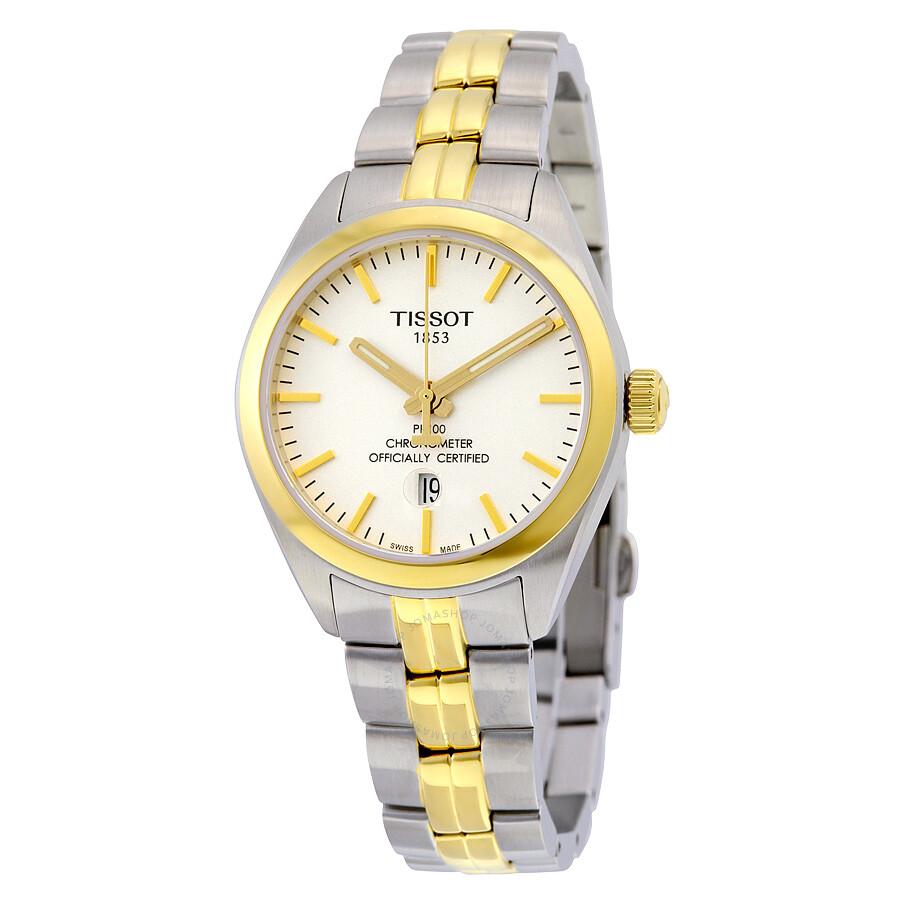 Tissot PR 100 Quartz COSC Lady White Dial Ladies Watch T1012512203100