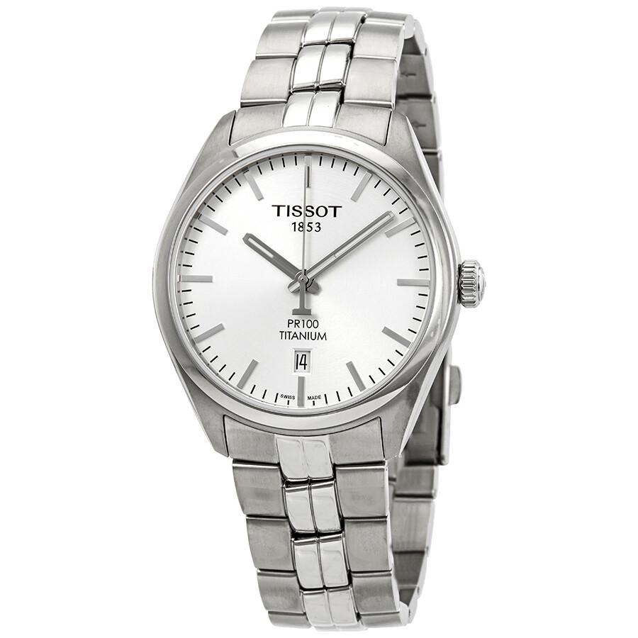 Tissot PR100 Silver Dial Mens Watch T101.410.44.031.00