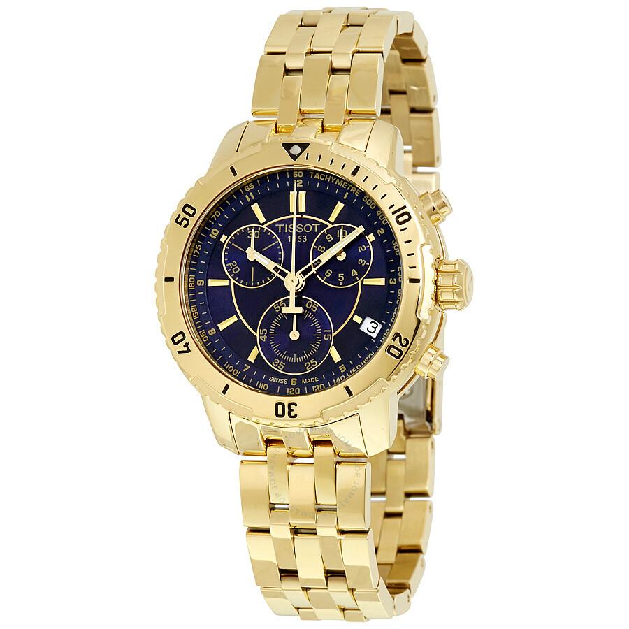 Tissot PRS 200 Chronograph Blue Dial Mens Watch T067.417.33.041.01