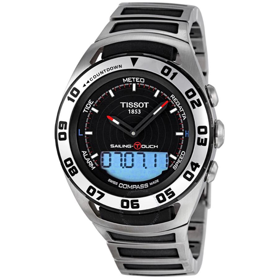 tissot sailing touch chronograph men s watch t0564202105100 rh jomashop com tissot sailing touch user manual tissot t touch sailing manual