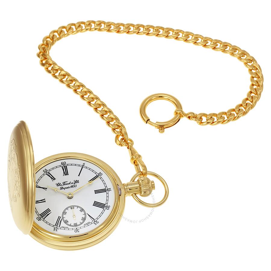 Tissot Savonnette Mechanical Golden Brass Pocket Watch T83445113