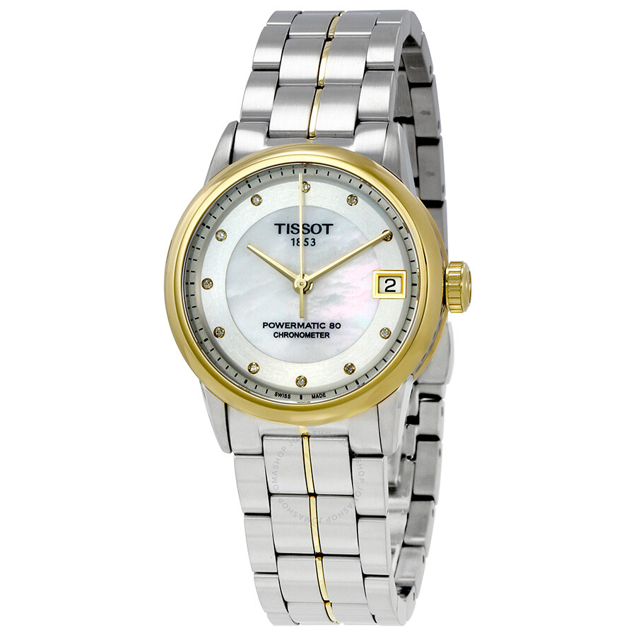 Tissot T-Classic Automatic Mother of Pearl Dial Ladies Watch T086.208.22.116..