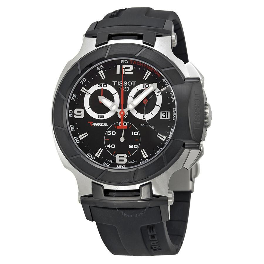 tissot t race black dial men 39 s watch. Black Bedroom Furniture Sets. Home Design Ideas