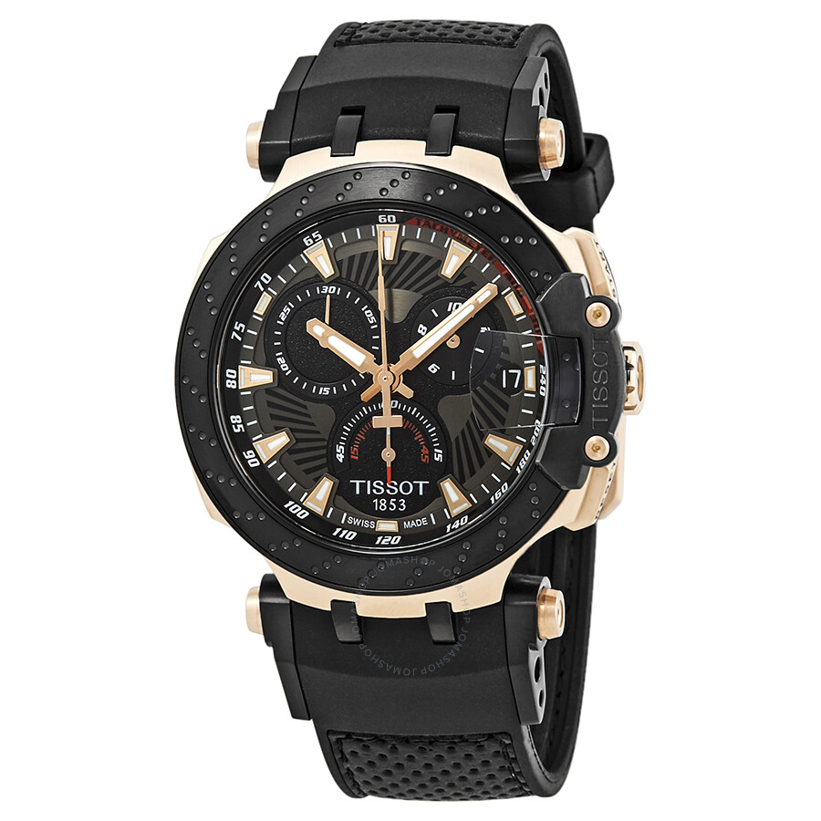 tissot t race motogp chronograph black dial men 39 s watch. Black Bedroom Furniture Sets. Home Design Ideas