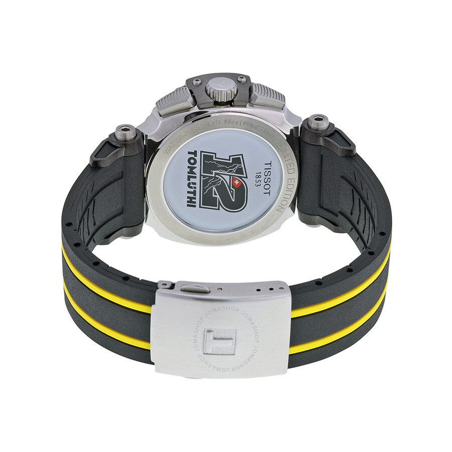 Tissot T Race Thomas Luthi 2015 Black Dial Black And