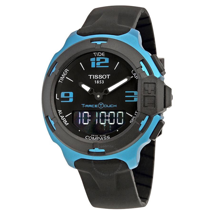 tissot t race touch aluminium black dial men 39 s watch. Black Bedroom Furniture Sets. Home Design Ideas