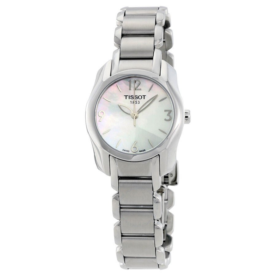 Tissot t wave mother of pearl dial ladies watch t wave t trend tissot for Pearl watches