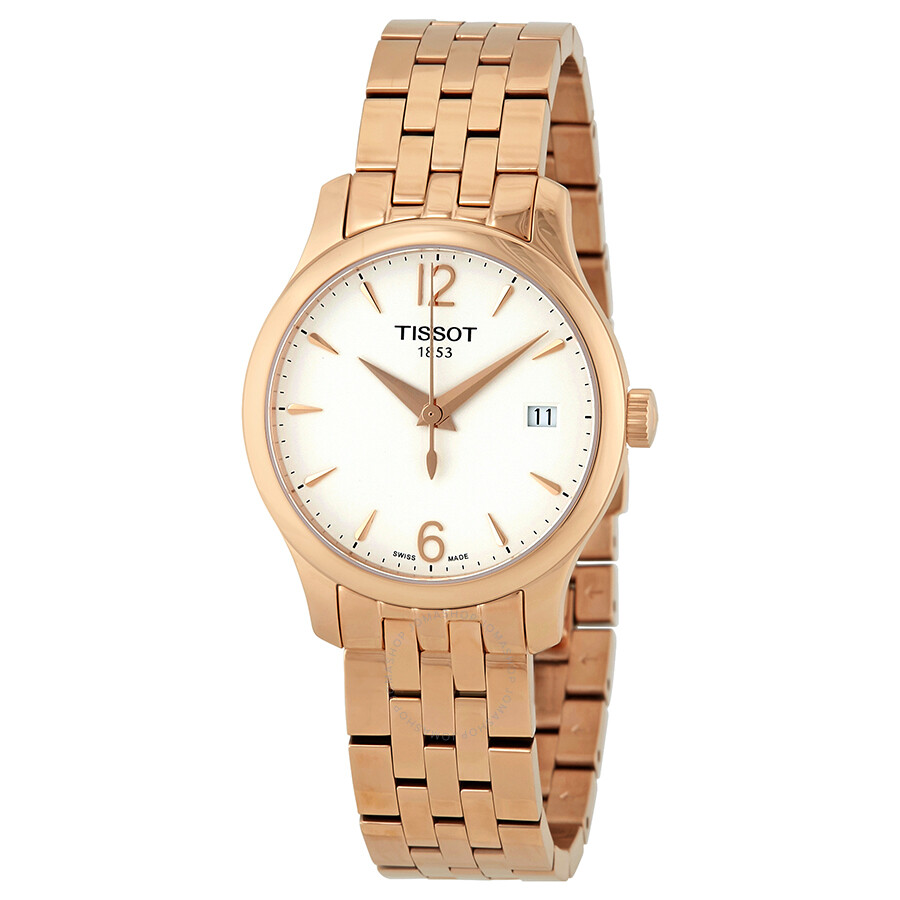 Tissot Tradition T-Classic White Dial Ladies Watch T063.210.33.037.00