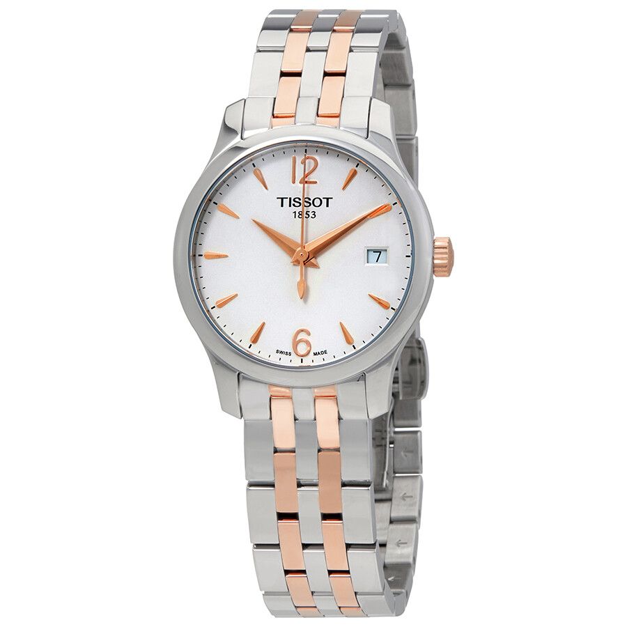 Tissot Tradition White Dial Ladies Watch T063.210.22.037.01