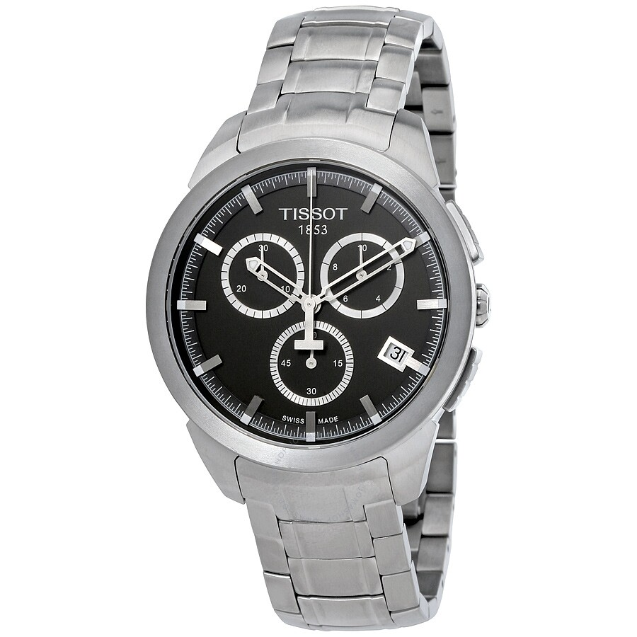 Open Box - Tissot T-Sport Titanium Chronograph Black Dial Mens Watch T069.41..