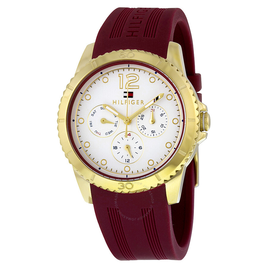watch red image hours ellie maroon crystalline watches swarovski from