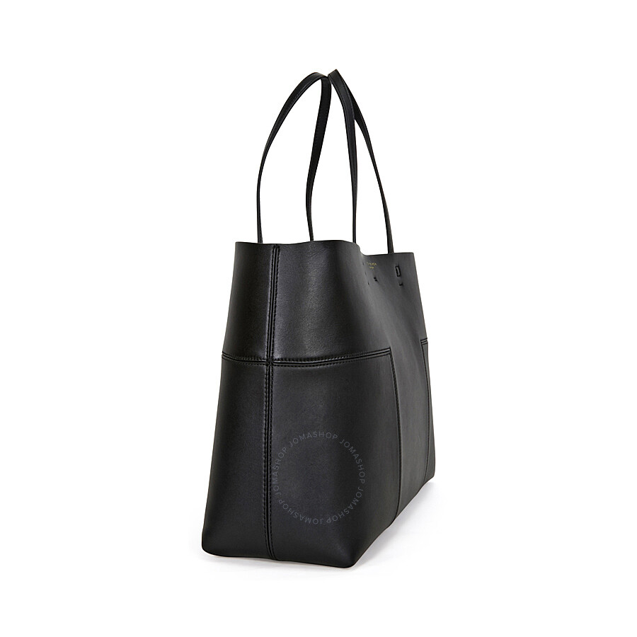 Tory Burch Block T Leather Tote Black