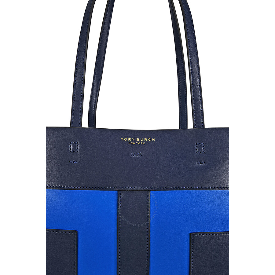 3a1d183135e5 low cost tory burch block t pieced tote royal navy galleria blue 73d81 afcf8