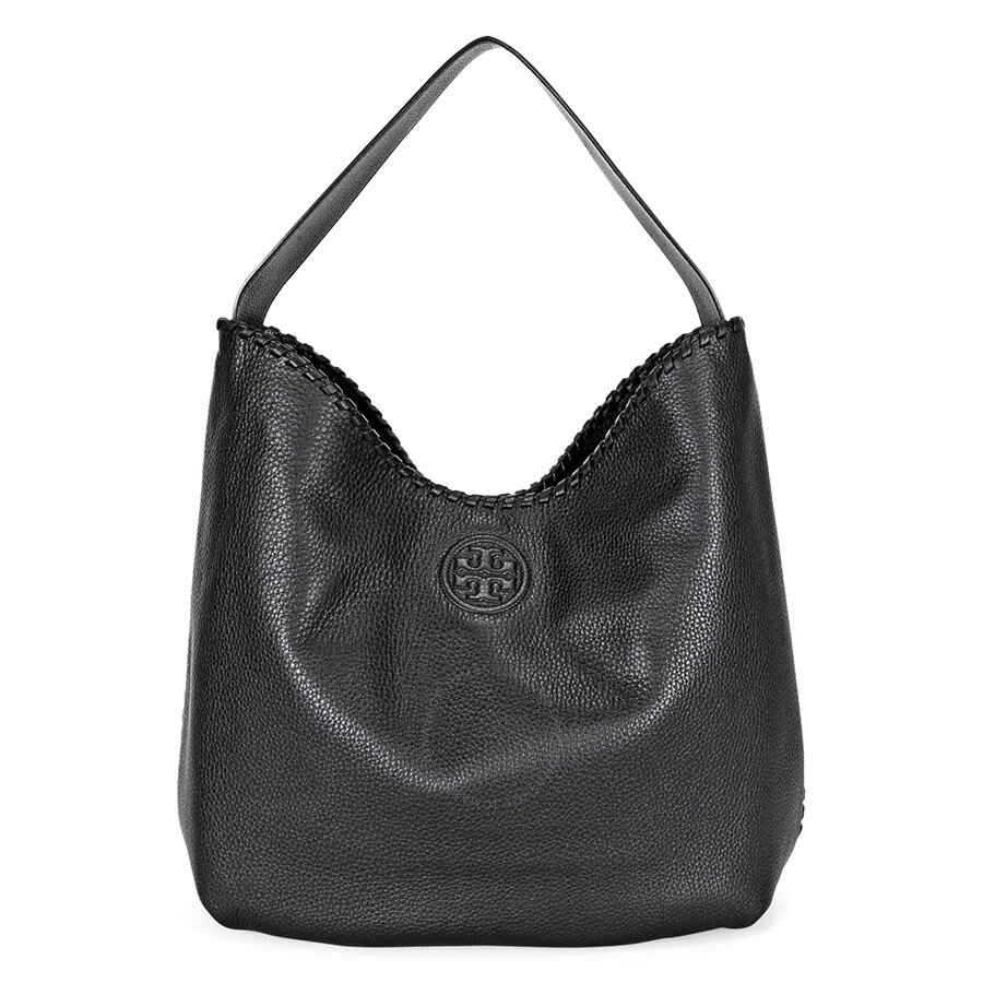 Tory Burch Marion Hobo Slouchy Tote Bag Black