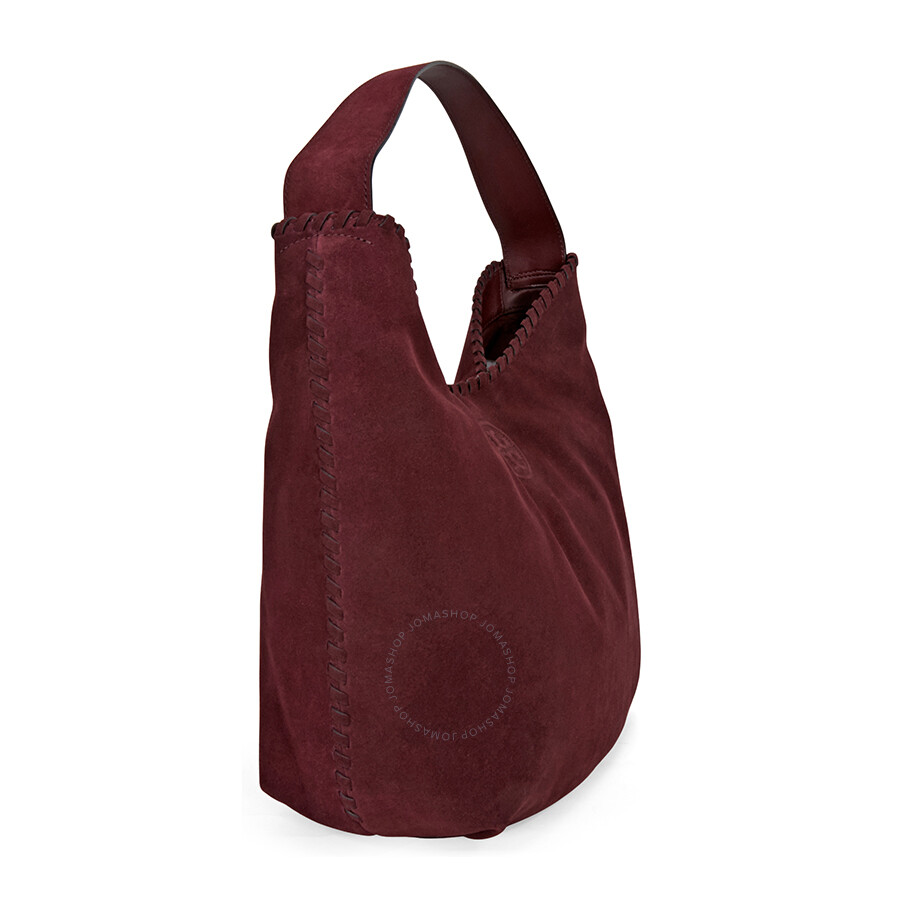 Tory Burch Marion Suede Hobo Bag Port