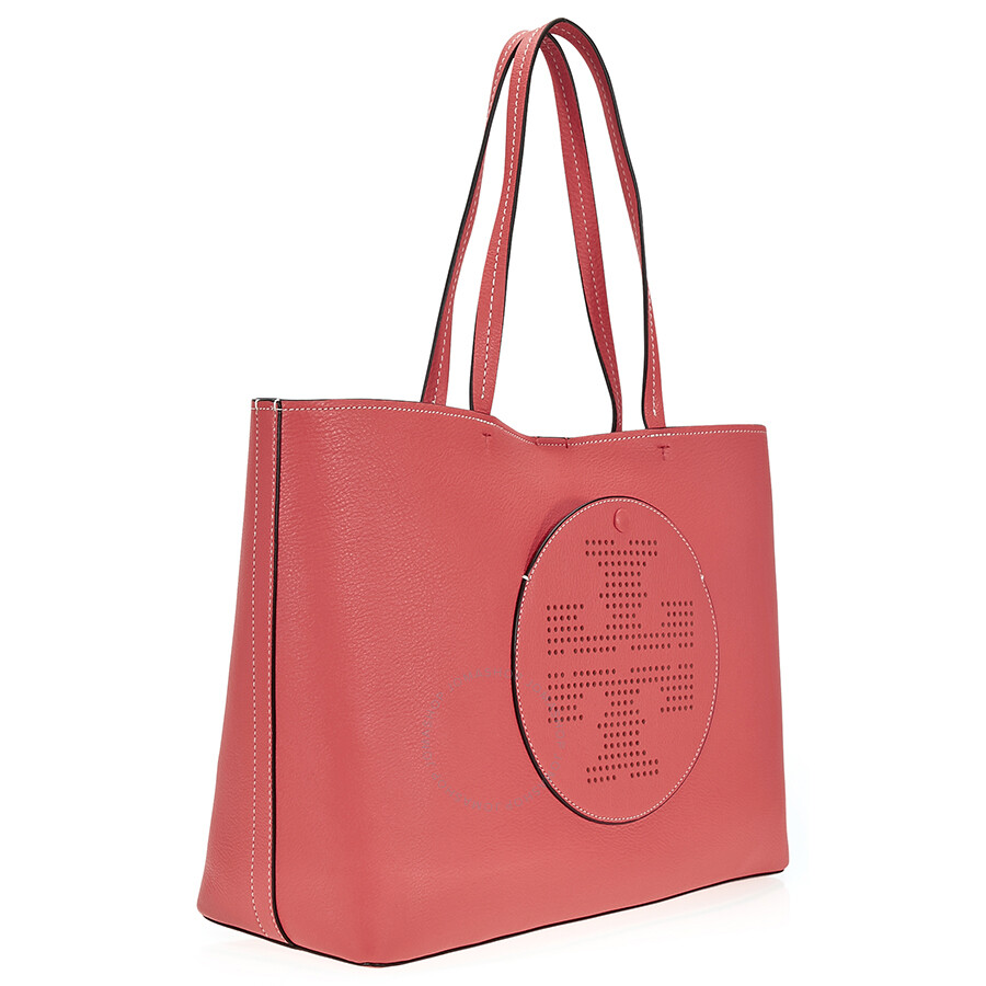 Tory Burch Perforated Logo Tote - Red Ginger / Tuscan Wine - Tory ...