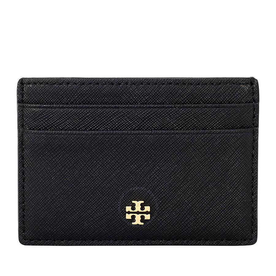 Tory Burch Robinson Slim Card Case- Black - Tory Burch - Handbags ...