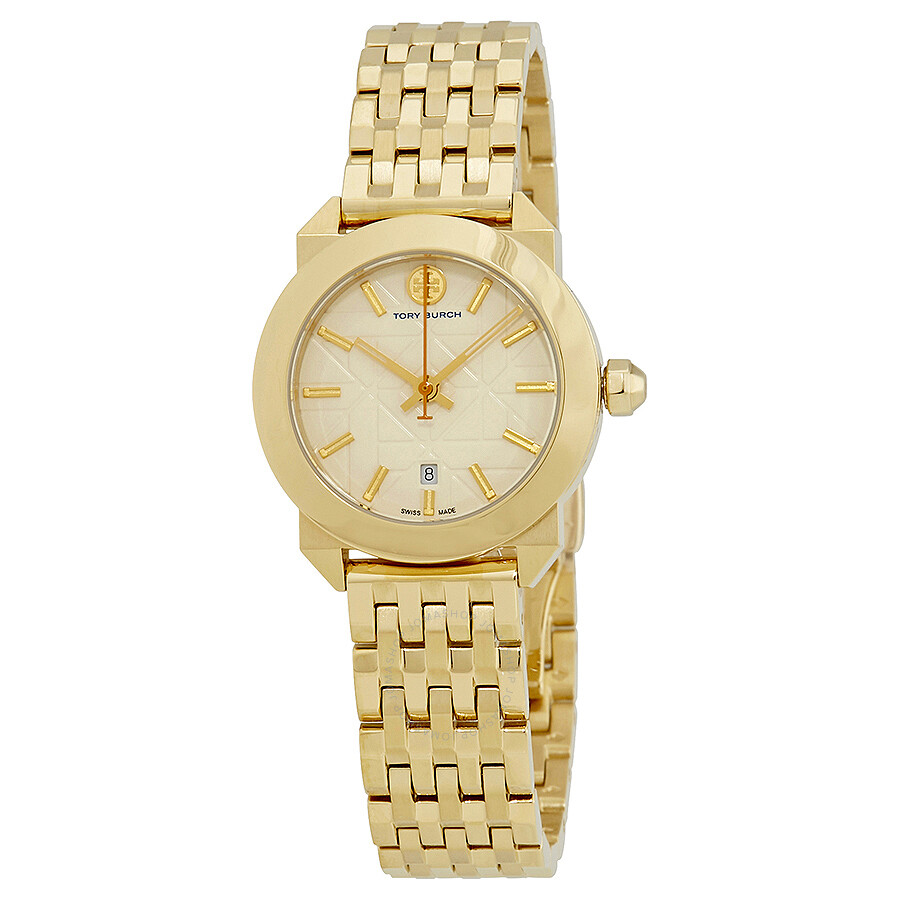 Tory Burch Whitney White Dial Gold-tone Ladies Watch TB8000