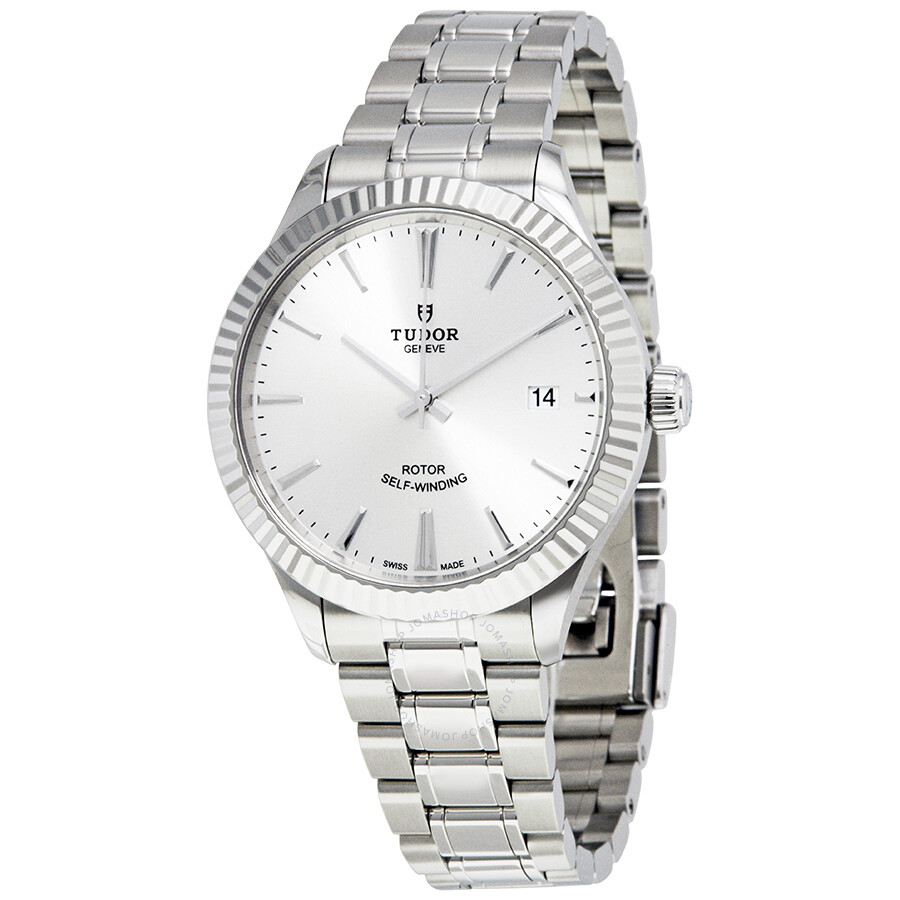 stainless watches steel tudor style watch dial automatic men svss s silver mens
